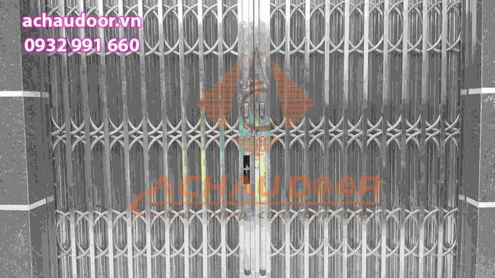 cửa kéo inox 304 có lá u 6 dem
