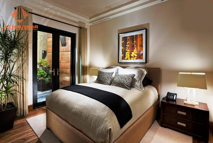 cửa nhôm kính 2 cánh cho phòng ngủ