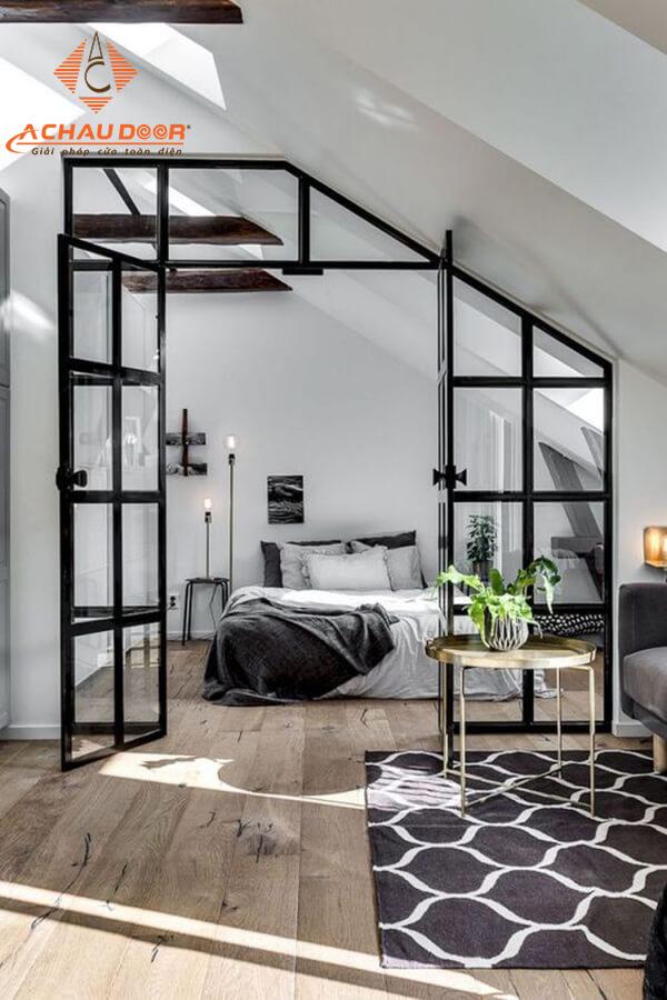 Mẫu cửa nhôm xingfa cho phòng ngủ