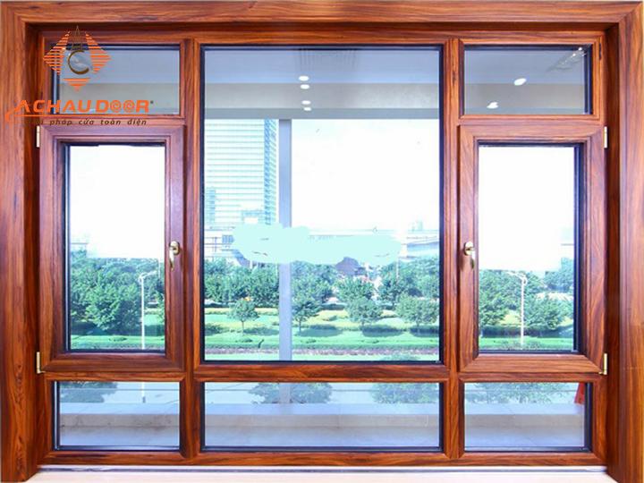 Cửa sổ đẹp với nhôm giả gỗ