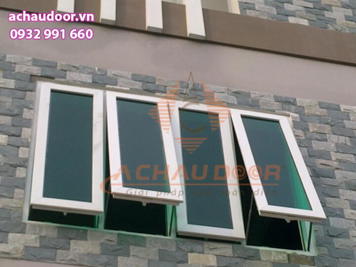 Mẫu cửa sổ 4 cánh nhôm kính đẹp