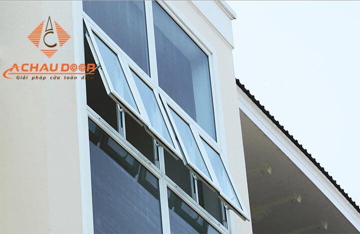 Mẫu cửa sổ 4 cánh nhôm Xingfa đẹp