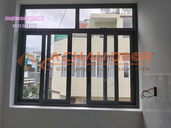 Mẫu cửa sổ 4 cánh mở lùa nhôm Xingfa cao cấp