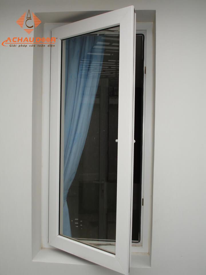 Cửa sổ 1 cánh nhôm Xingfa màu trắng sang trọng