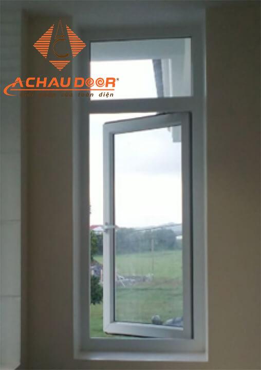 Mẫu cửa sổ mở quay 1 cánh nhôm Xingfa đẹp